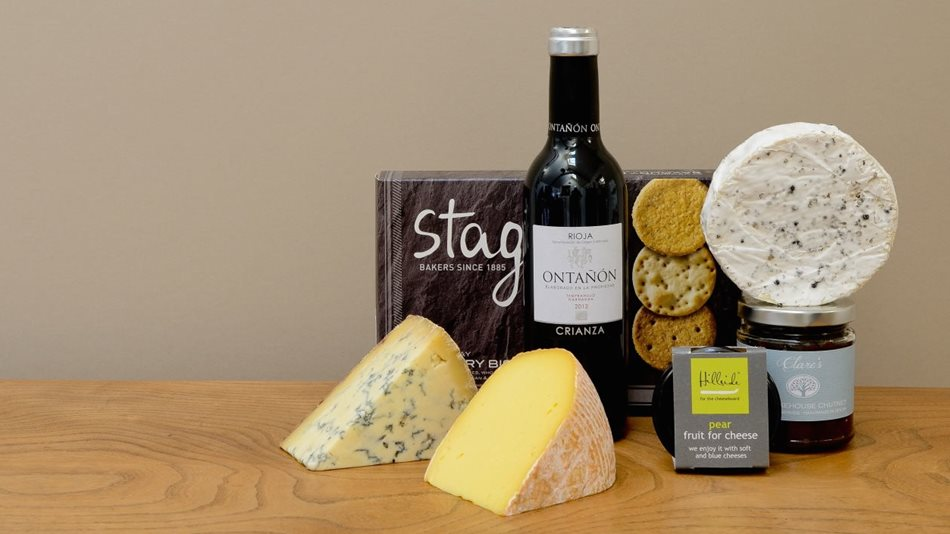 our hampers: cheese and a whole lot more ...